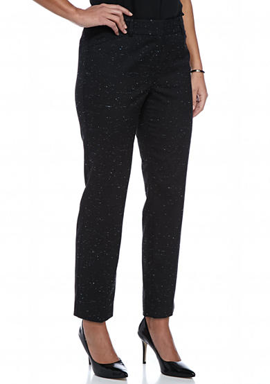 New Directions® Petite Size Speckled Tweed Short Length Pants