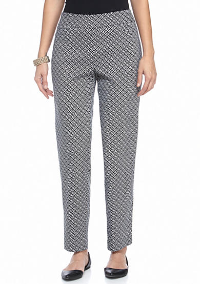 New Directions® PETITE DIAMOND PRINT PULL ON PANTS