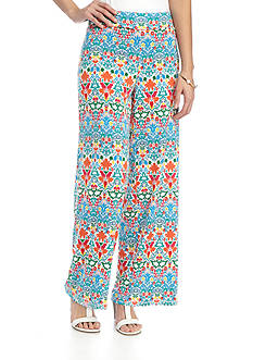 New Directions Petite Printed Floral Pull-On Soft Pant