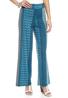 New Directions Petite Printed Pull-On Soft Pant
