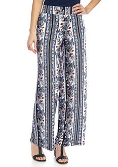 New Directions Petite Printed DTY Pull-On Pants