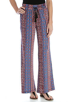 New Directions Petite Printed Soft Pant