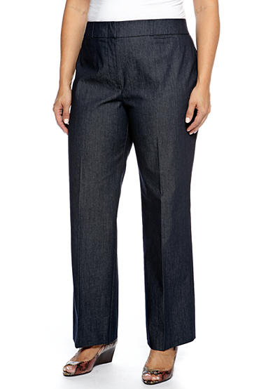 New Directions® Plus Size Denim Elastic Pants