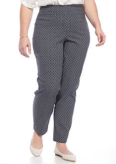 New Directions Plus Size Printed Pull-on Millennium Ankle Pant