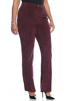 New Directions Plus Size Comfort Waist 5 Pocket Corduroy Pant