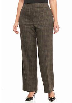 New Directions Plus Size Fordham Plaid Pants