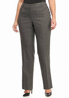 New Directions Plus Size Clinton Hill Tweed Pant