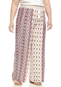 New Directions® Printed Tie Waist Wide Leg Pants