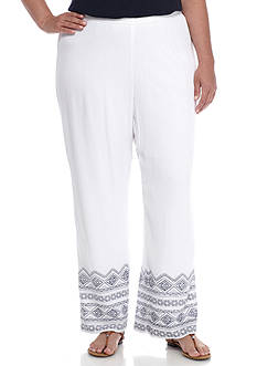 New Directions® Plus Size Lined Border Printed Pull-On Pant