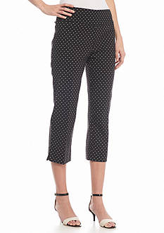 New Directions® Polka Dot Millennium Crop Pants
