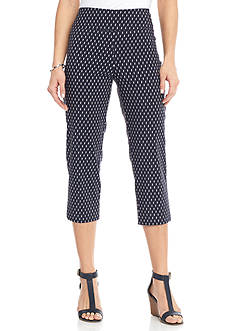 New Directions Printed Millennium Pull-On Crop Pants