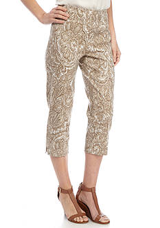 New Directions Paisley Print Millennium Pull-On Crop Pant