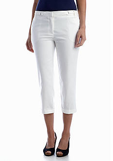 New Directions® Cotton Double Face Crop Pant