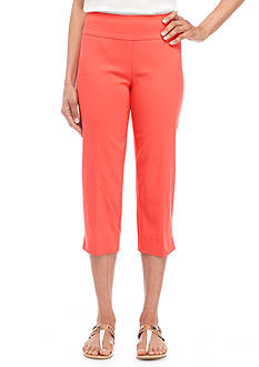 New Directions Solid Millennium Pull-On Crop Pant