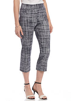 New Directions Printed Millennium Pull On Crop Pant