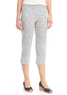 New Directions Printed Millennium Pull-On Crop Pant