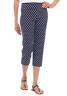 New Directions® Printed Millennium Slim Leg Cropped Capris