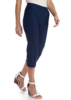 New Directions® Petite Pull On Slim Leg Crop Pant
