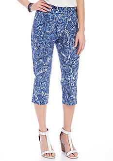 New Directions® Petite Printed Millennium Crop Pant
