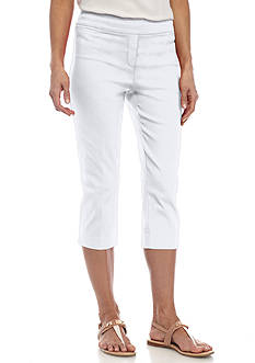 New Directions Petite Solid Millennium Pull-On Crop Pant