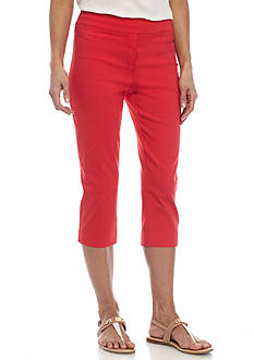 New Directions® Petite Solid Millennium Pull-On Crop Pant