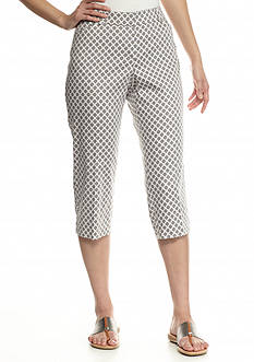 New Directions® Petite Printed Editor Crop Pants