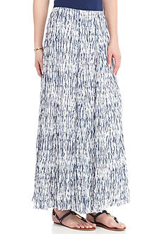 New Directions® Printed Lined Crinkle Tricot Skirt