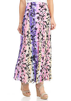 New Directions® Tropical Leaf Printed Skirt