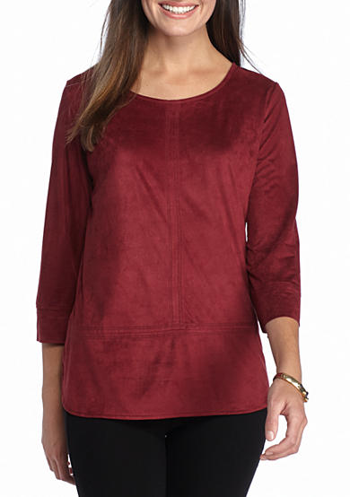 New Directions® Faux Suede Tunic