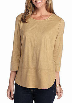New Directions Faux Suede Tunic