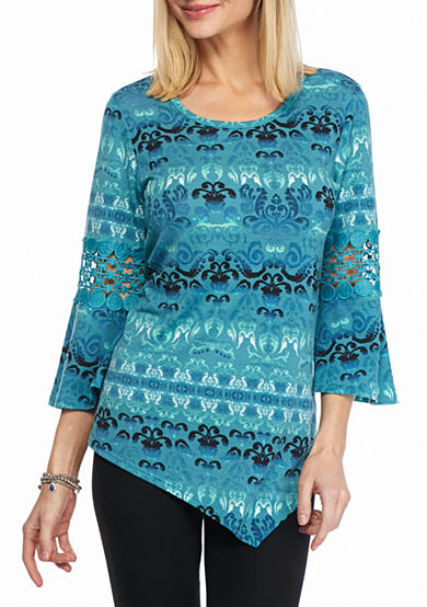 New Directions® Bell Sleeve with Crochet Knit Top