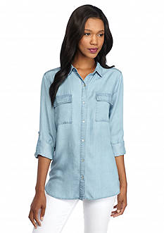 New Directions Tencel® Jean Shirt