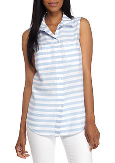 New Directions Button Down Sleeveless Shirt