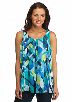 New Directions® Sleeveless Flyaway Blouse