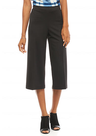 New Directions® Ponte Wide Leg Crop Pants