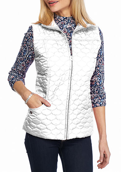 New Directions® Quilted Drawstring Vest