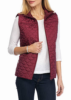 New Directions Quilted Drawstring Vest