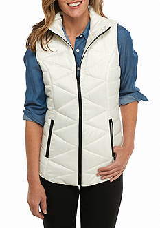 New Directions Weekend Solid Quilted Puffer Vest