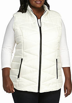New Directions Plus Size Puffer Vest