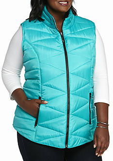 New Directions® Plus Size Puffer Vest