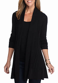 New Directions Inverted Pleated Cardigan