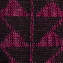 Purple Sweaters for Women: Frenchie New Directions Geo Patterned Fringe Sweater