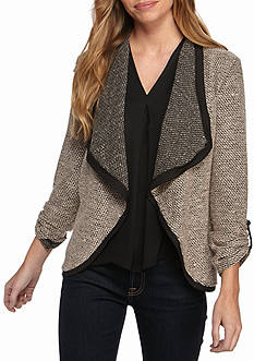 New Directions Petite Size Open Drape Front Jacket