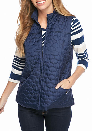 New Directions® Two Pocket Seamed Quilted Vest