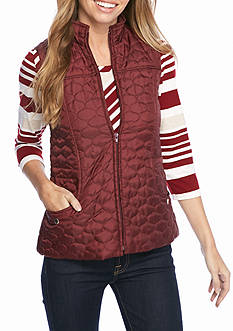 New Directions Two Pocket Seamed Quilted Vest