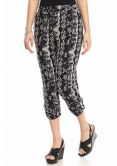 New Directions® Petite Ruched Hem Drawstring Pant