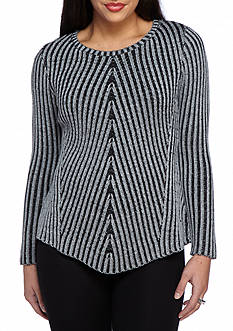 New Directions Petite Size Plaited Rib Sweater