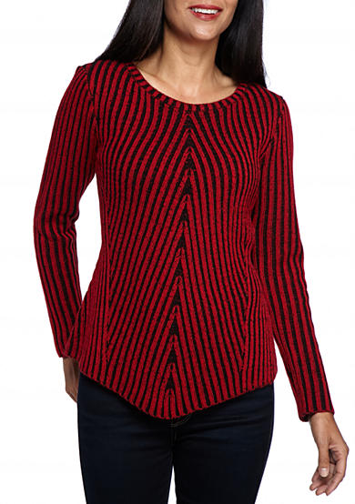 New Directions® Petite Size Plaited Rib Sweater