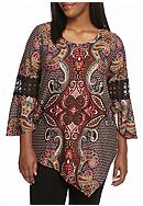New Directions® Plus Size 3/4 Sleeve