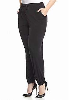 New Directions® Plus Size Elastic Waist And Hem Pants